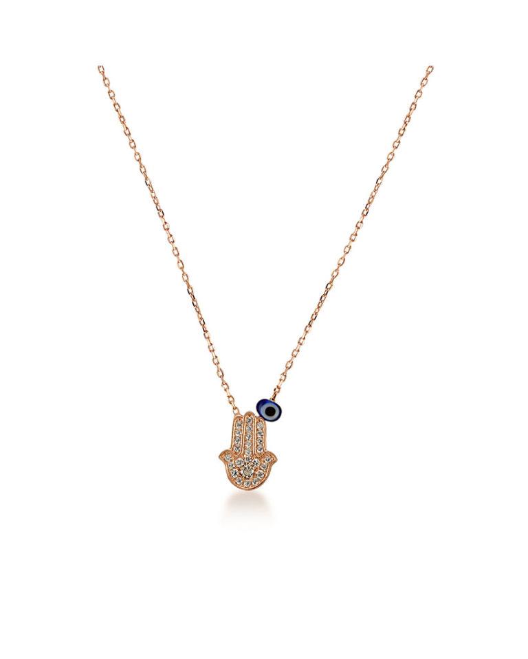 Mano di Fatima - Collana in argento 925
