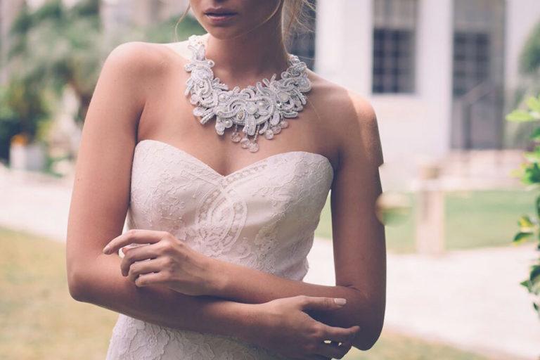 Collana plastron per sposa
