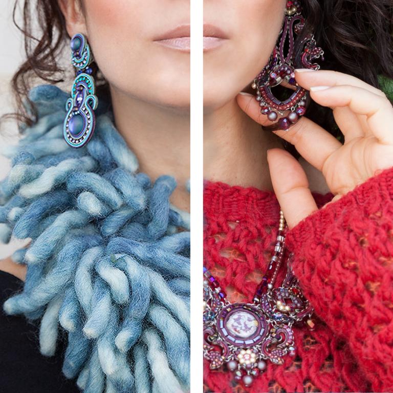 Rosso e blu: colori caldi e freddi per l'inverno