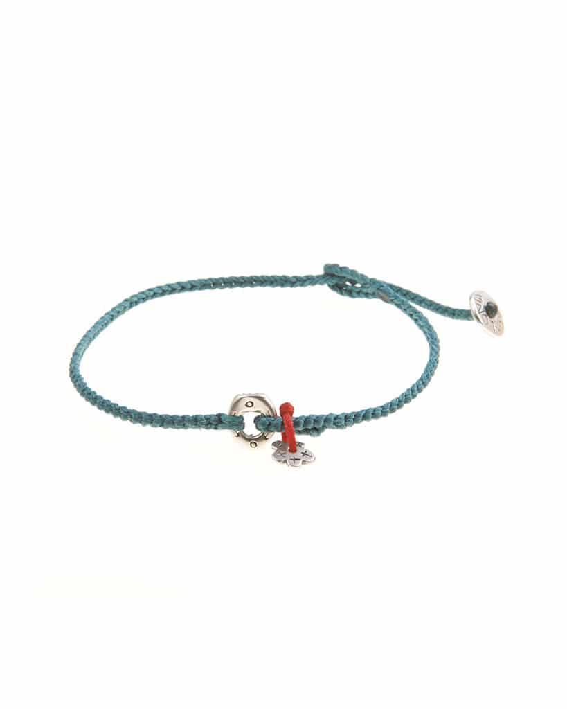 Bracciali in argento e corda nautica