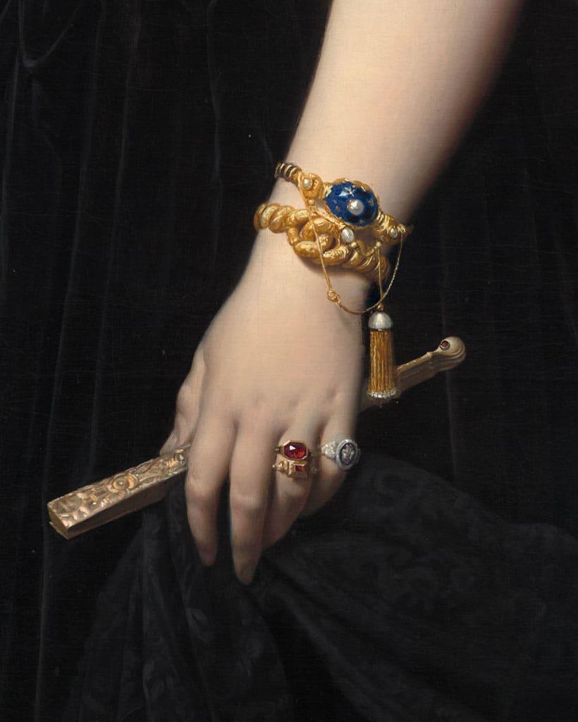 Bracciali a catena: dipinto di Ingres