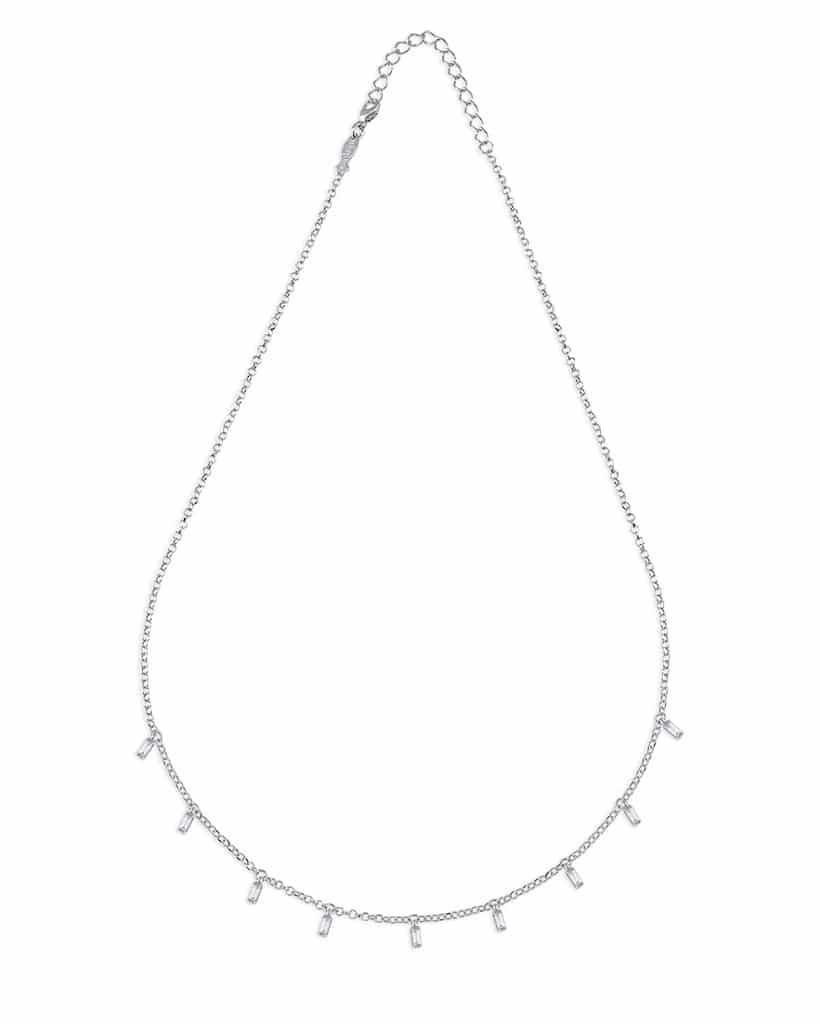 Collana baguette in argento 925